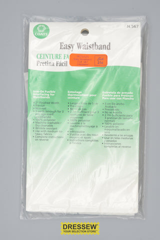 Iron-On Easy Waistband White