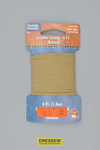 Faux Leather Lacing 6 feet Natural