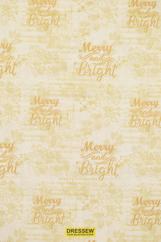 Merry & Bright Print Beige Mix / Gold