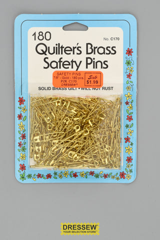 "Safety Pins #00 7/8"" Gold"