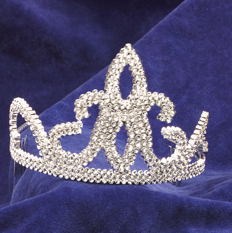 Tiara with Combs Silver