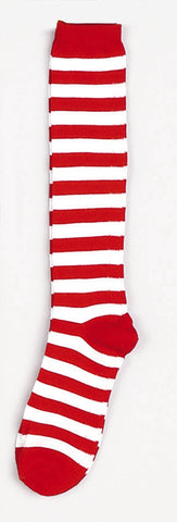 Striped Socks One Size Red / White