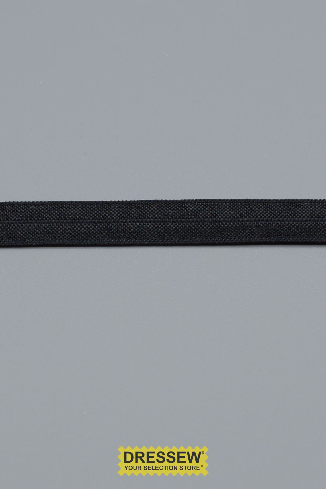 Fold Over Elastic 13mm Black