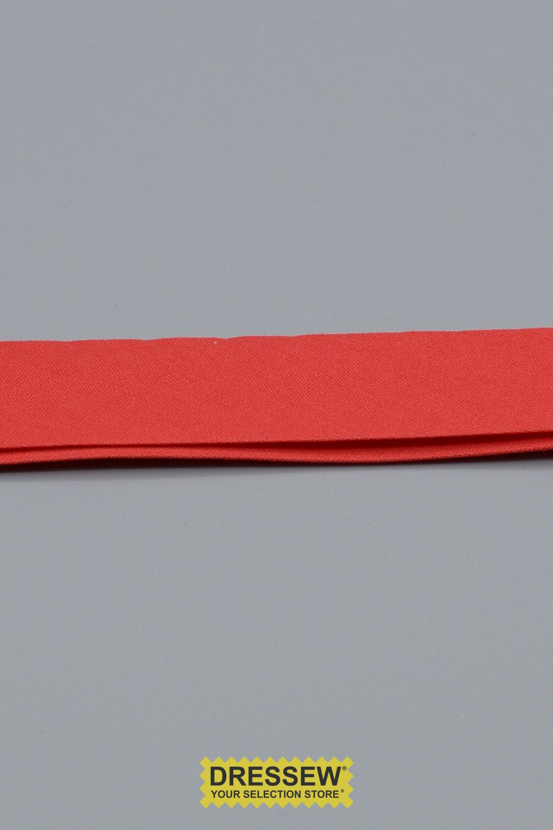 "Cotton Double Fold Bias 24mm (15/16"") Red"