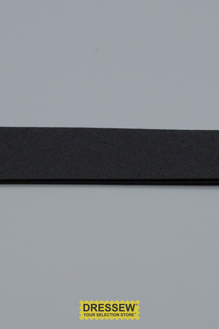 "Double Fold Bias Tape 24mm (15/16"") Black"