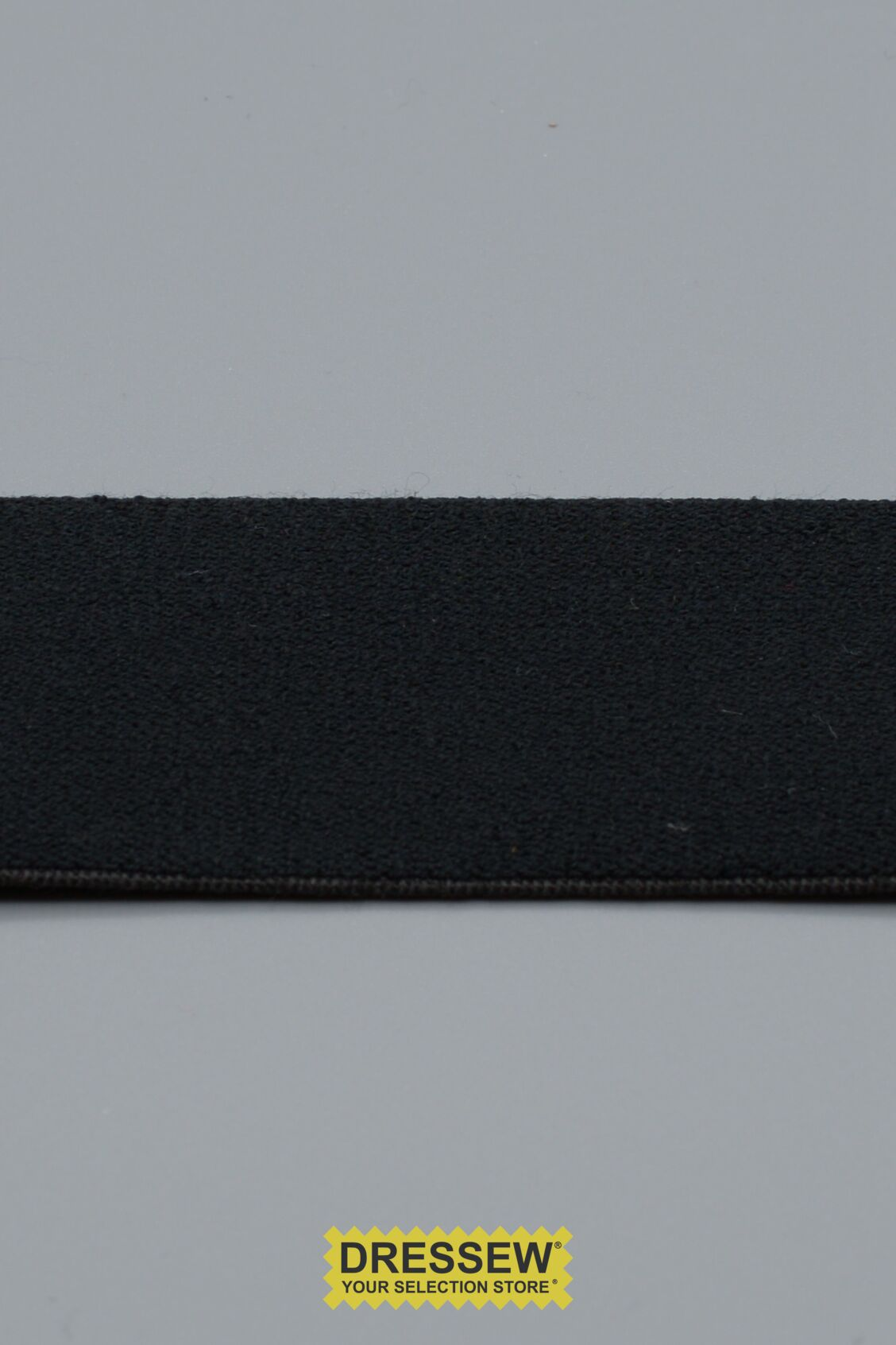 "Plush Elastic 38mm (1-1/2"") Black"