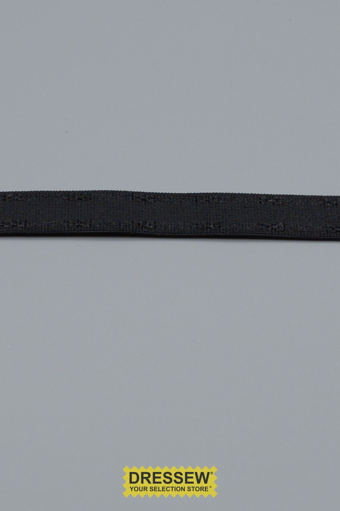 "Bra Strap Elastic 12mm (1/2"") Black"
