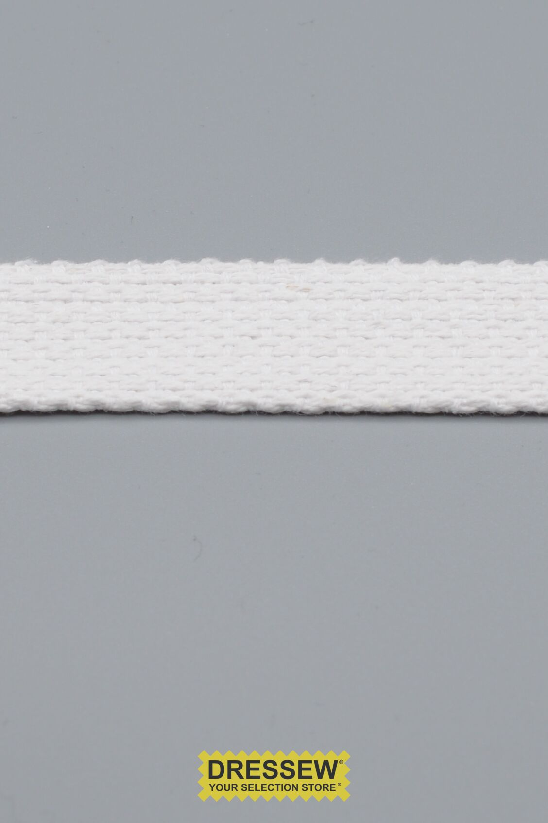 "Cotton Webbing 25mm (1"") White"