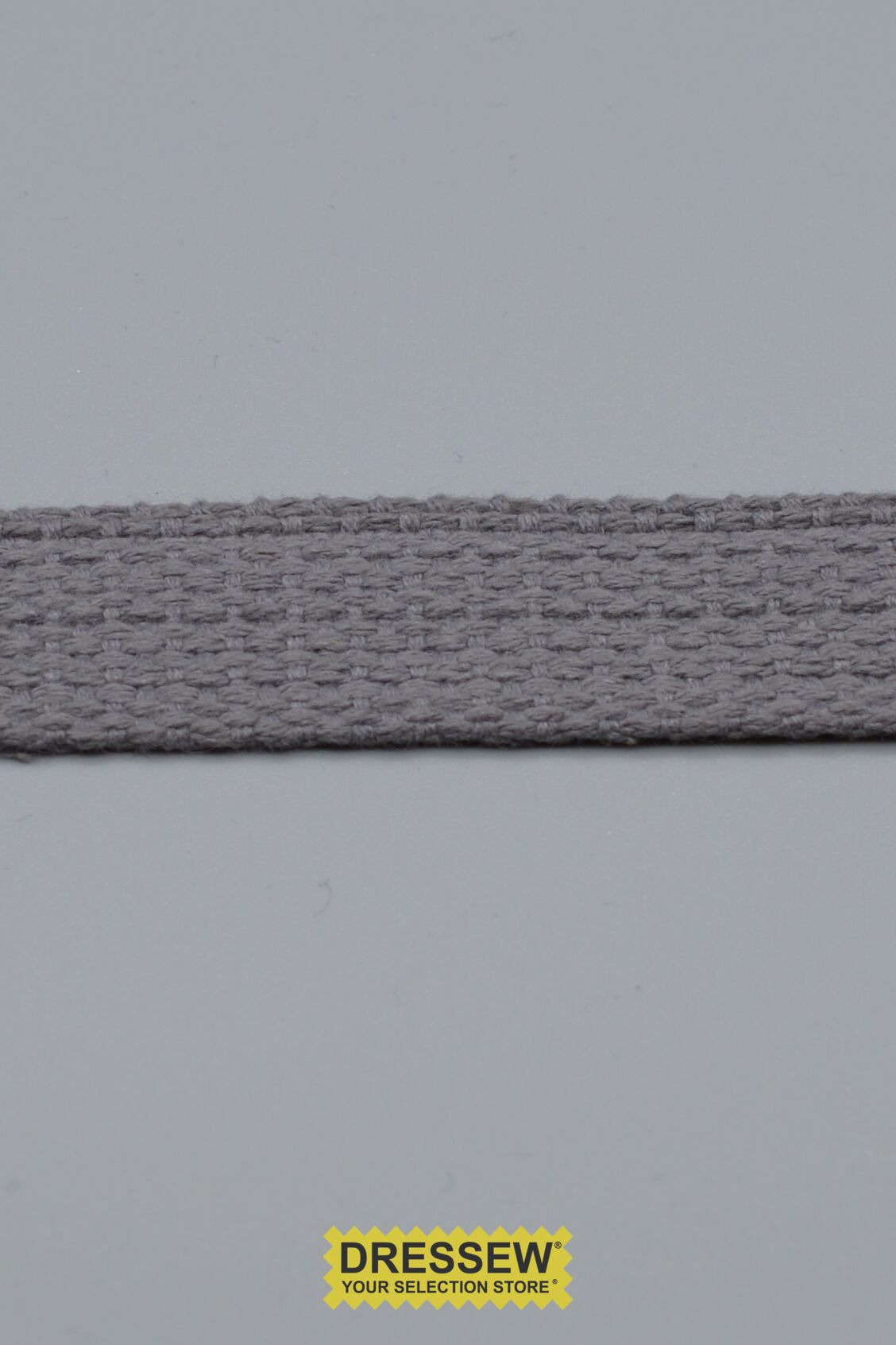 "Cotton Webbing 25mm (1"") Light Grey"