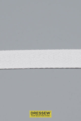 "Cotton Twill Tape 19mm (3/4"") White"