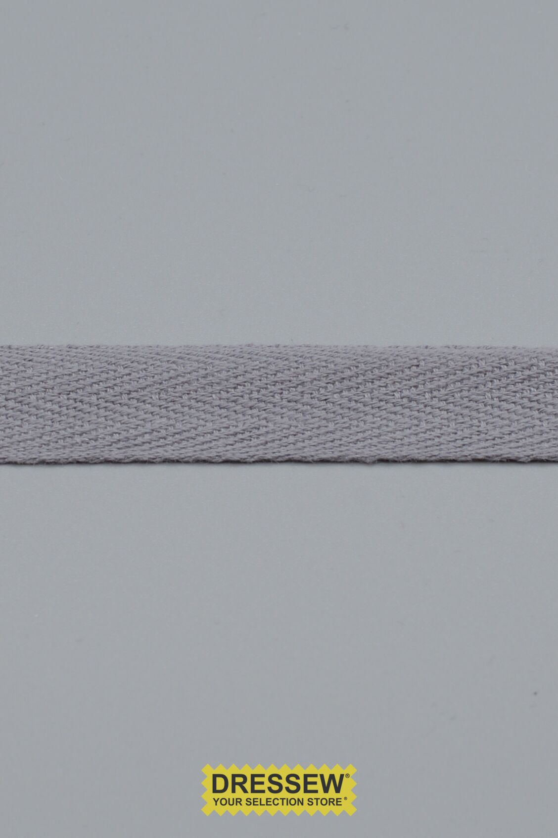 "Cotton Twill Tape 19mm (3/4"") Dark Grey"