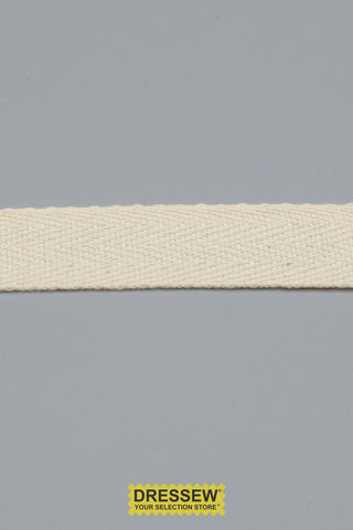 "Cotton Twill Tape 19mm (3/4"") Natural"