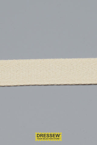 "Cotton Twill Tape 25mm (1"") Natural"