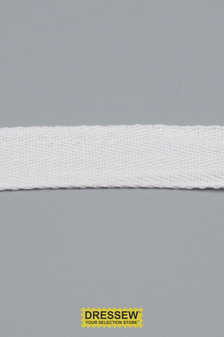 "Cotton Twill Tape 25mm (1"") White"