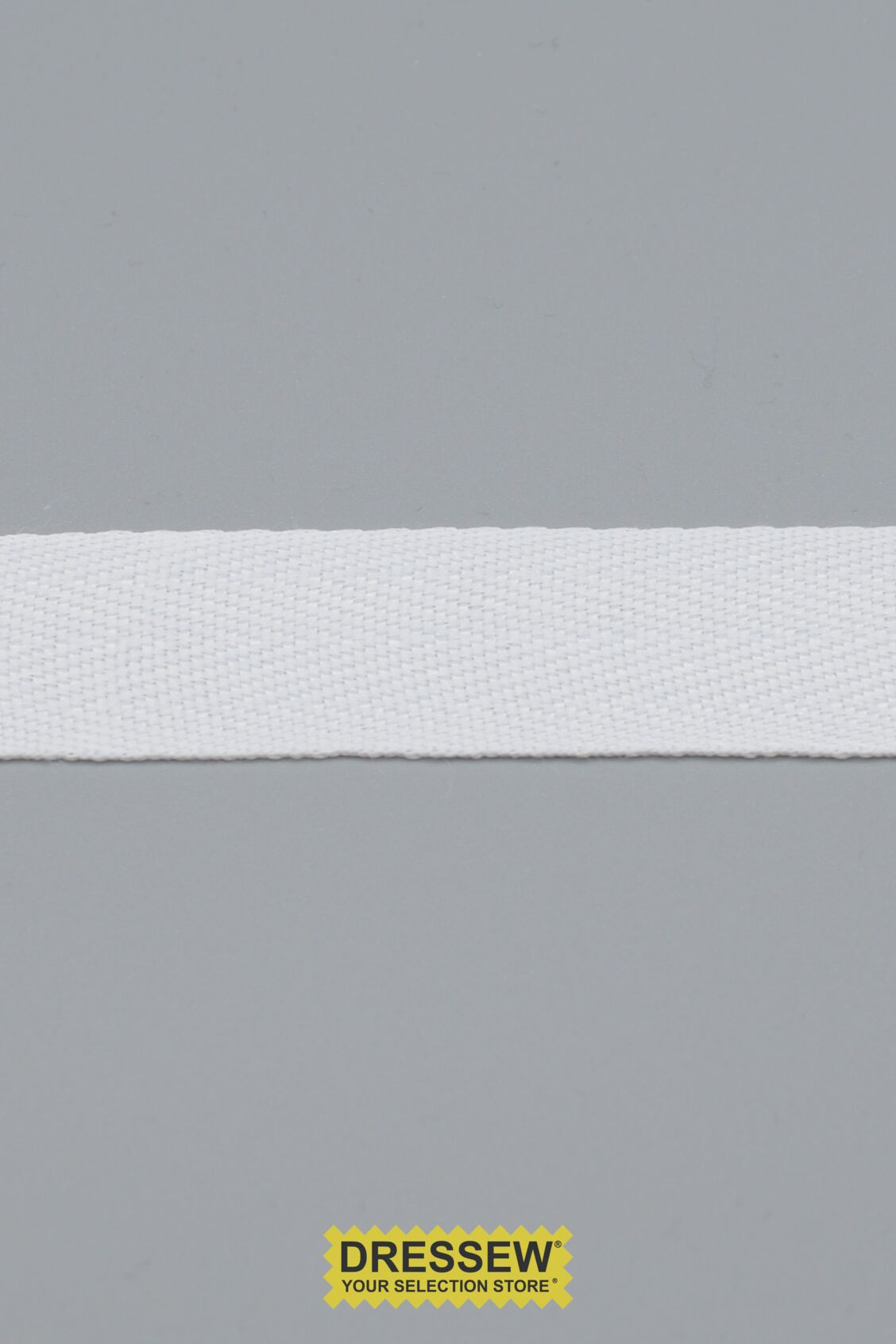 "Poly Twill Tape 25mm (1"") White"