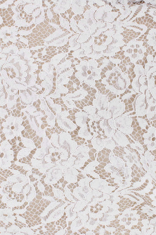 Flora Corded Lace White