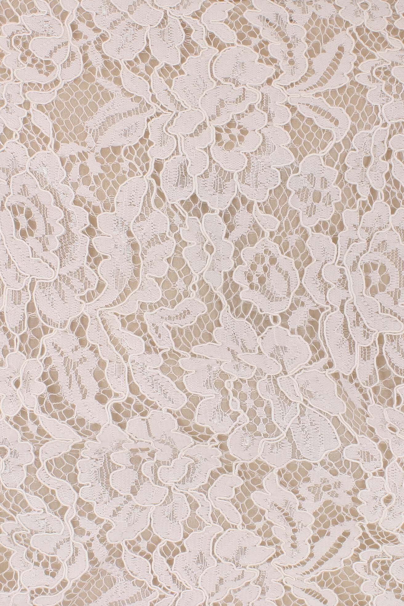 Flora Corded Lace Off White