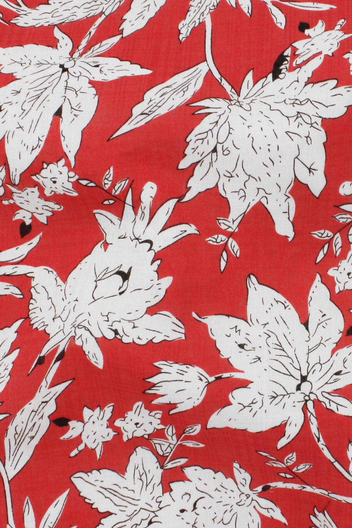 Verona Voile Print Red / White