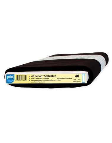 Pellon 40 Sew-In Stabilizer Medium Black