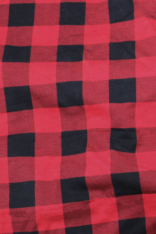 "Bamboo 1"" Check Lycra Red / Black"