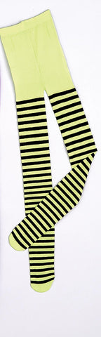 Striped Tights One Size Green / Black
