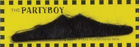 Moustache Self Adhesive Partyboy Black