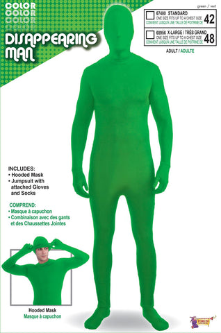 Disappearing Man Costume Adult Green