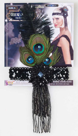 Deluxe Flapper Headband Black