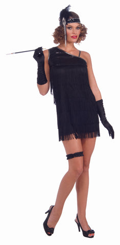 Black Diamond Dazzle Flapper Costume Adult