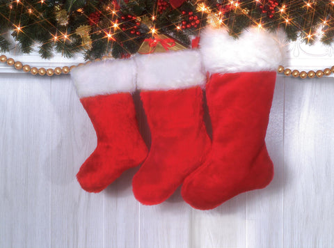 "Deluxe Plush Stocking 48cm (19"") Red"