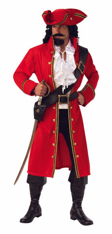 Pirate Captain Costume Adult - Ex. Large