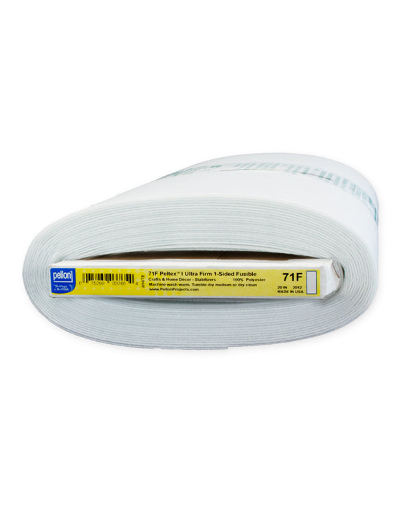 Pellon 71F Iron-On Peltex Ultra Firm White