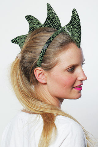 Dragon Headband Green