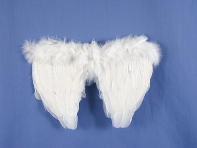"Mini Feather Wings 35cm (14"") White"