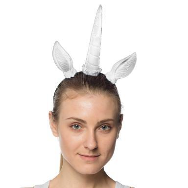 Supersoft Unicorn Ears & Horn Headband White