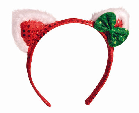 Christmas Cat Ears Red