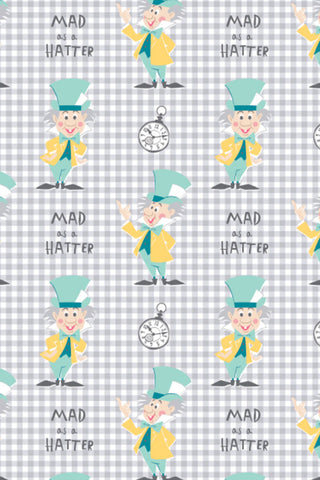 Alice In Wonderland Mad As A Hatter Grey