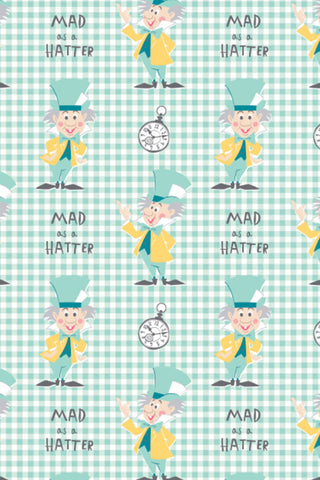 Alice In Wonderland Mad As A Hatter Aqua