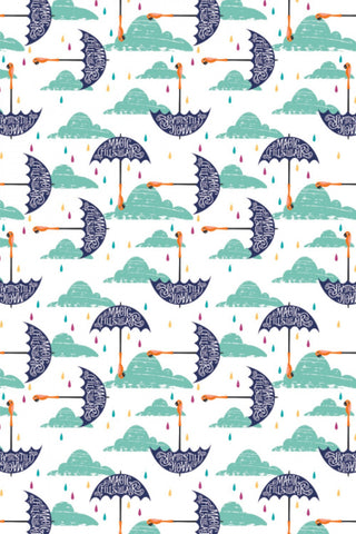 Disney Mary Poppins Umbrellas White / Multi