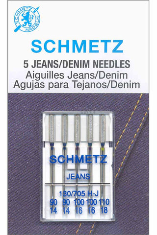 Schmetz Denim Needles Assorted Sizes 90-110