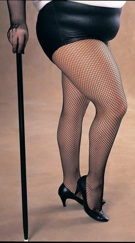 Sexy Fishnet Tights Plus Size Black