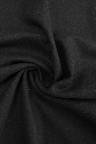 Cassia Silk Noil Black
