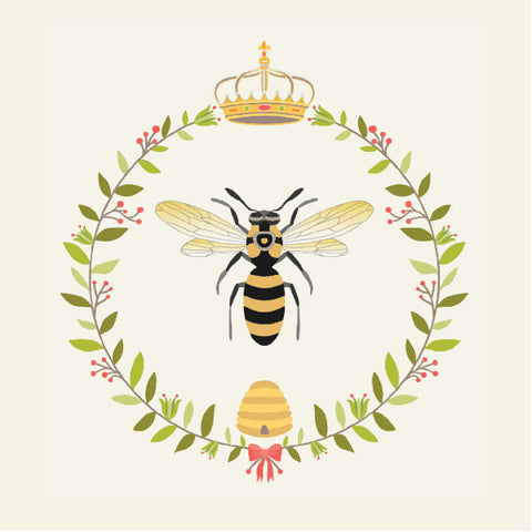 Devonstone Queen Bee Wreath Ivory / Multi