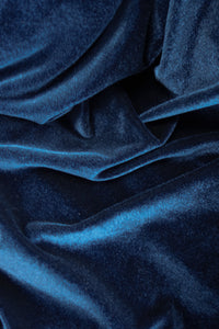 Sophia Stretch Velvet Navy
