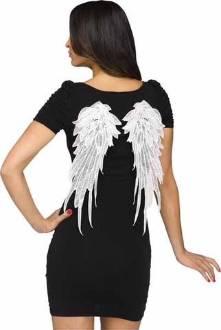 Angel Wings Pin-On White Lace