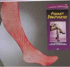 Fishnet Pantyhose One Size Red