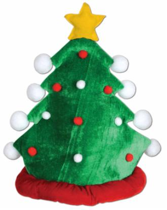 Plush Xmas Tree Hat