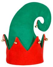 Felt Elf Hat Green / Red
