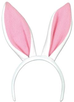 Soft-Touch Ears Bunny White / Pink