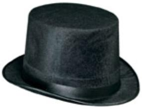Vel-Felt Top Hat Black
